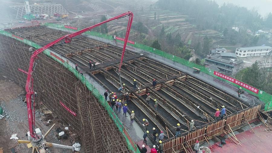 巴通万高速公路项目万源段首个现浇梁施工节点目标提前实现