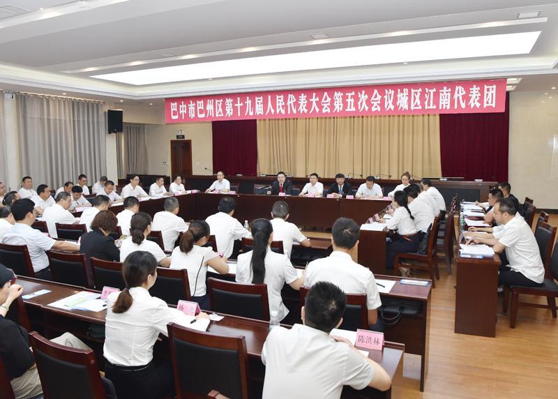 杨波参加清江、城区江南代表团审议