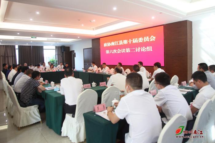 李善君参加政协南江县第十届委员会第六次会议第二讨论组讨论会